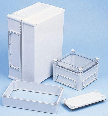 Fibox EK, Grey, Transparent Polycarbonate Enclosure, IP66, IP67, Flanged, 190 x 190 x 130mm