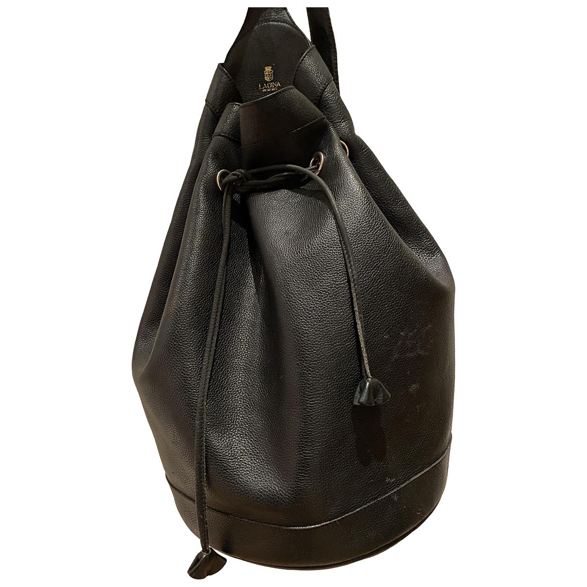 Lardini \N Black Leather backpack for Women \N