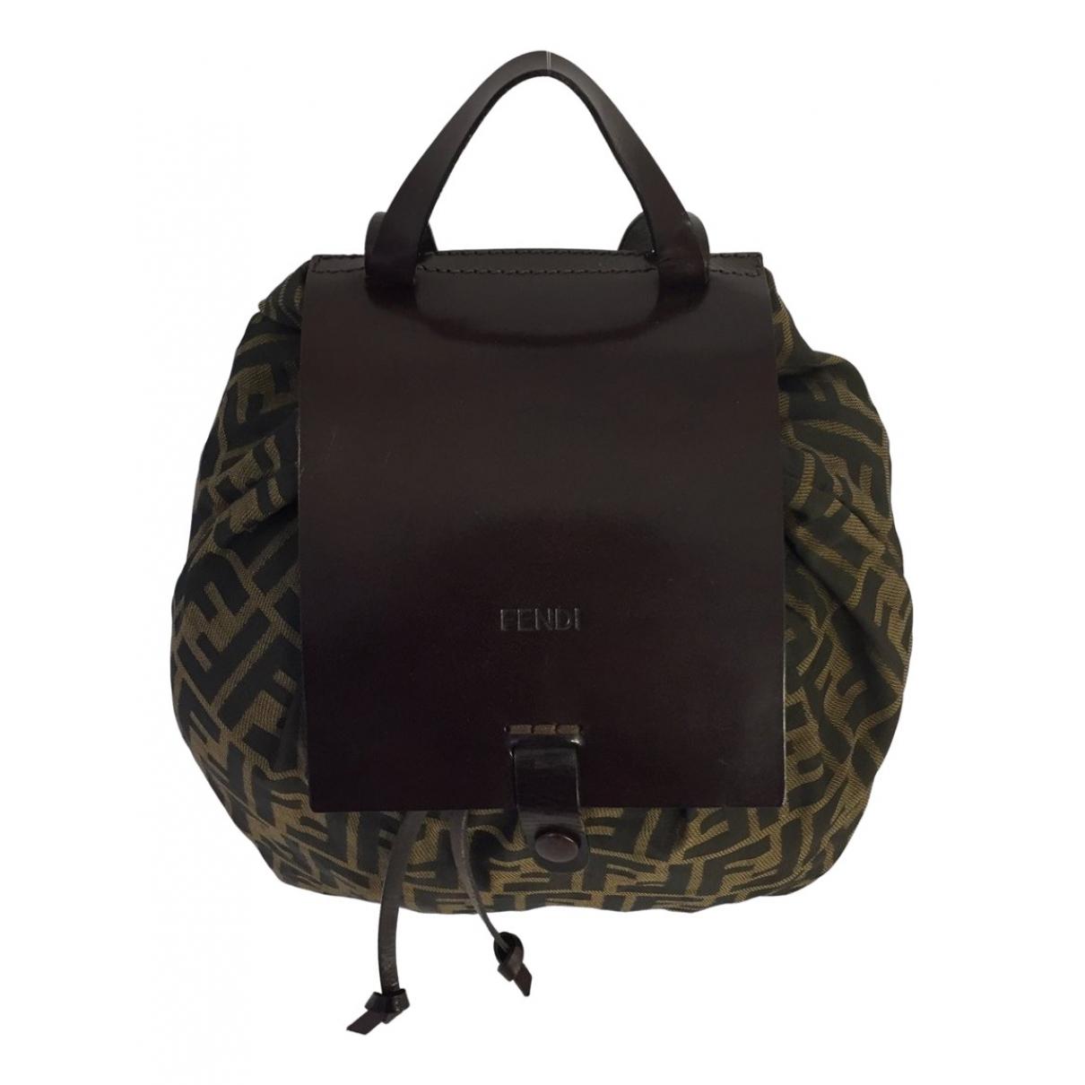 Fendi N Brown Cloth backpack for Women N