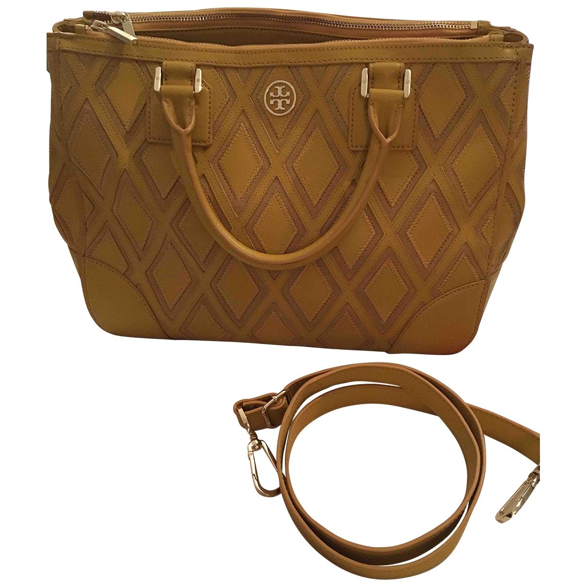 Tory Burch \N Handtasche in  Gelb Leder