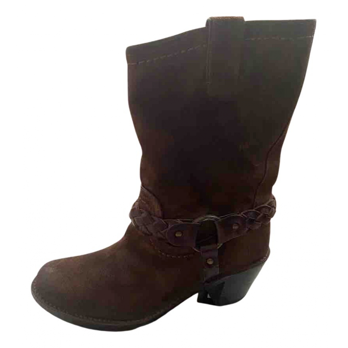 Frye N Brown Leather Boots for Women 39 EU