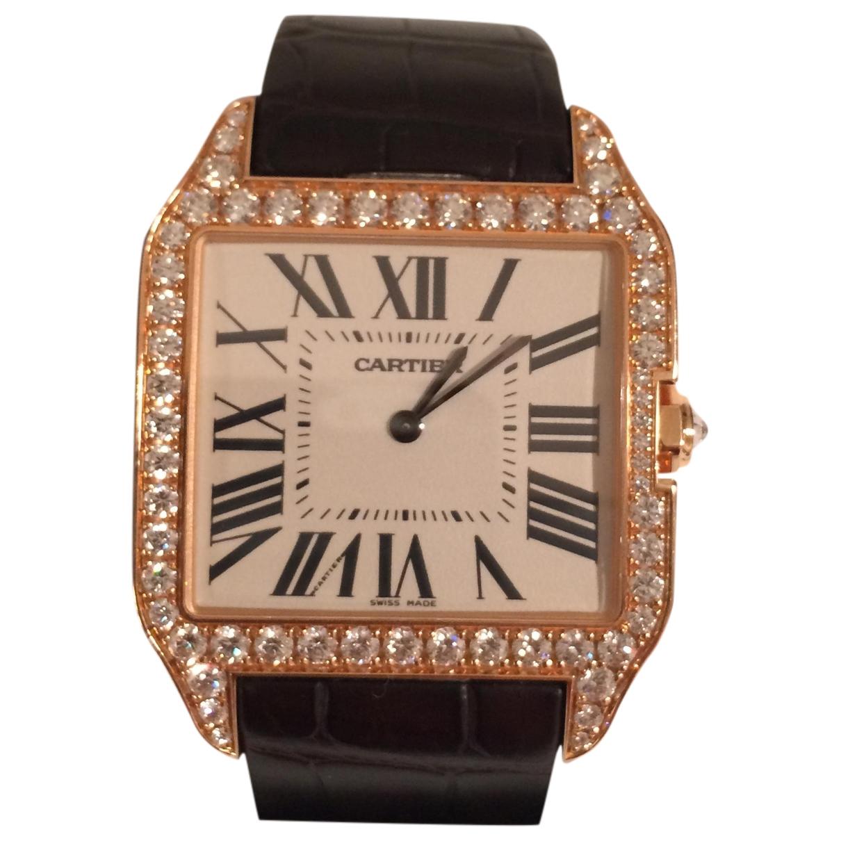Reloj Santos Dumont  de Oro rosa Cartier