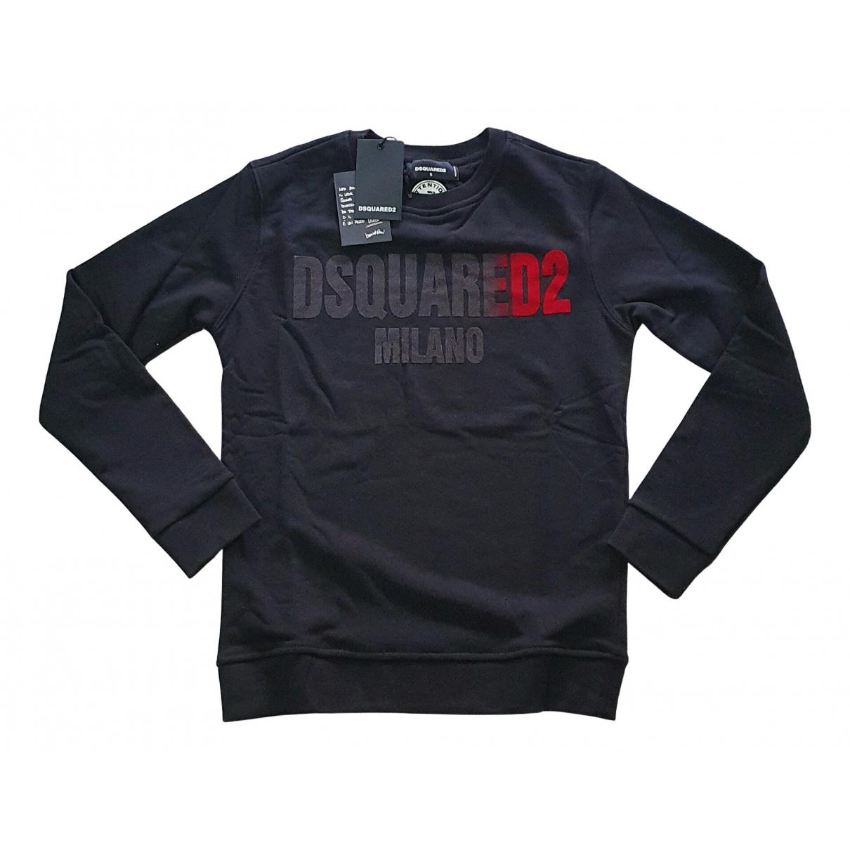 Dsquared2 \N Pullover.Westen.Sweatshirts  in  Schwarz Baumwolle
