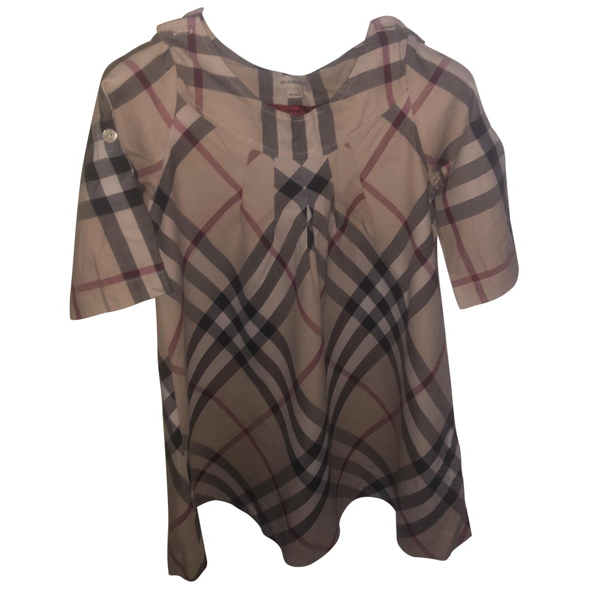 Burberry - Robe    pour enfant en coton - marron