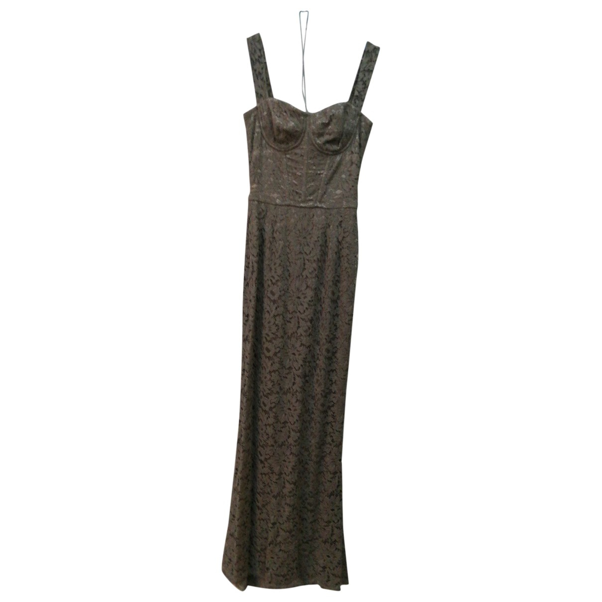 Dolce & Gabbana - Robe   pour femme en dentelle - gris
