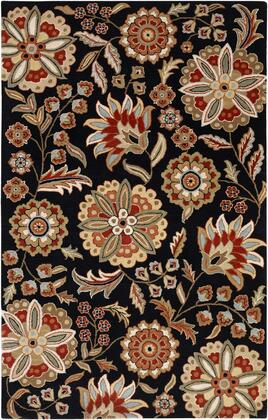 Athena Collection ATH5017-1215 Rectangle 12' x 15' Area Rug  Hand Tufted with Wool Material in Black and Red