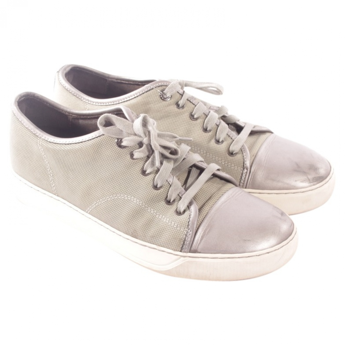 Lanvin \N Green Leather Trainers for Women 40 EU
