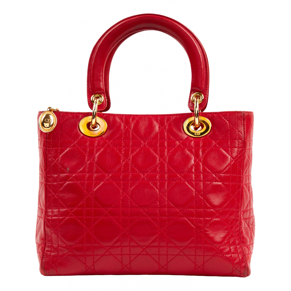 Dior Lady Dior Red Leather handbag for Women \N