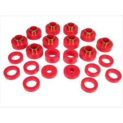 Prothane Motion Control Body Mount Kit (Red) - 1-103