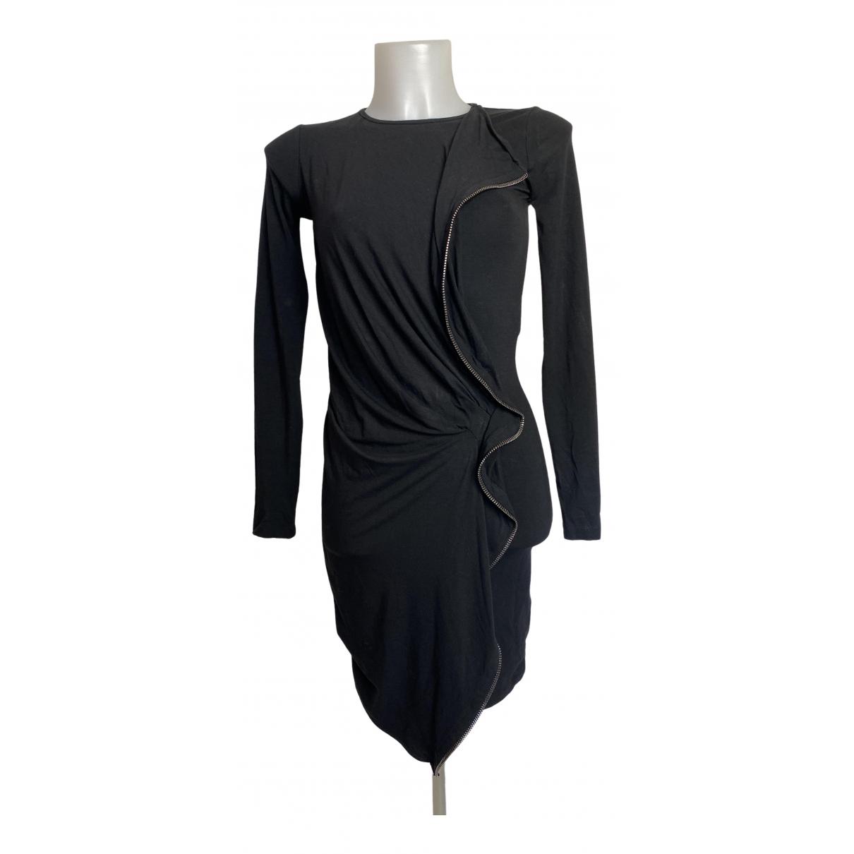 Plein Sud - Robe   pour femme en coton - elasthane - noir