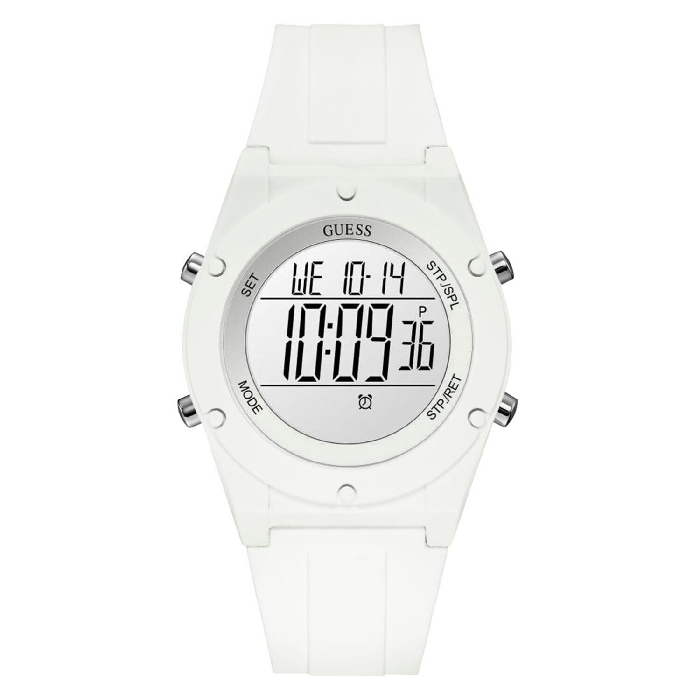 Guess Women's Digi Pop U1282L1 White Silicone Quartz Fashion Watch