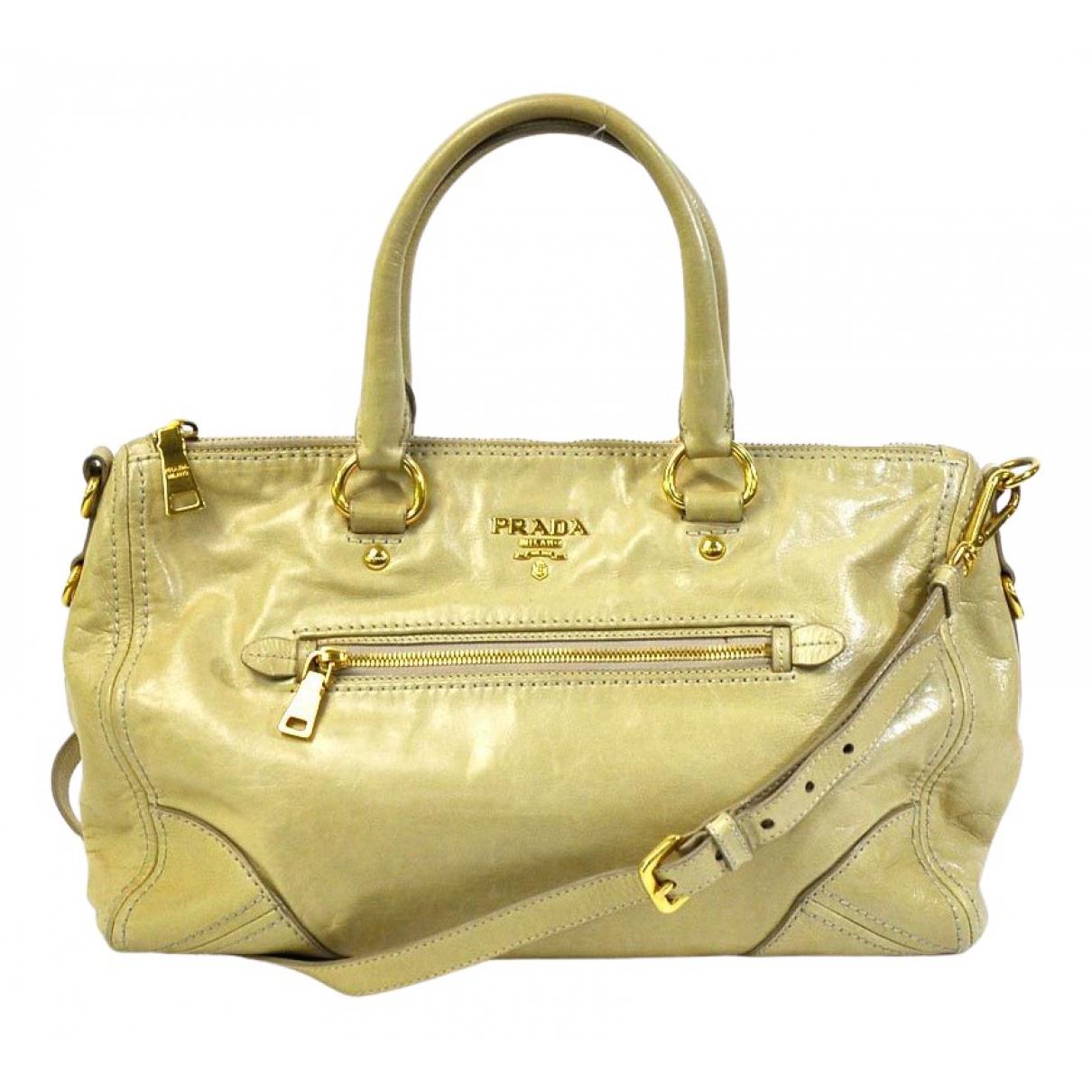 Prada \N Yellow Leather handbag for Women \N