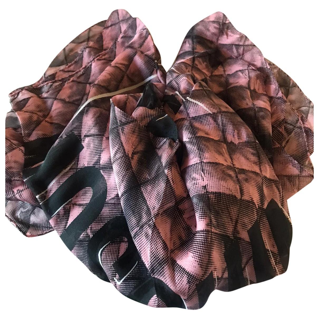 Moschino - Foulard   pour femme en soie - rose
