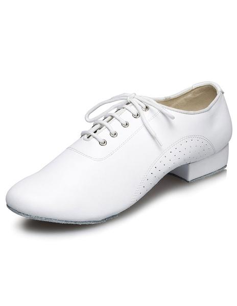 Milanoo Zapatos De Fiesta Negros De Pu Zapatos Baile Latino Con Cordones Para Hombre