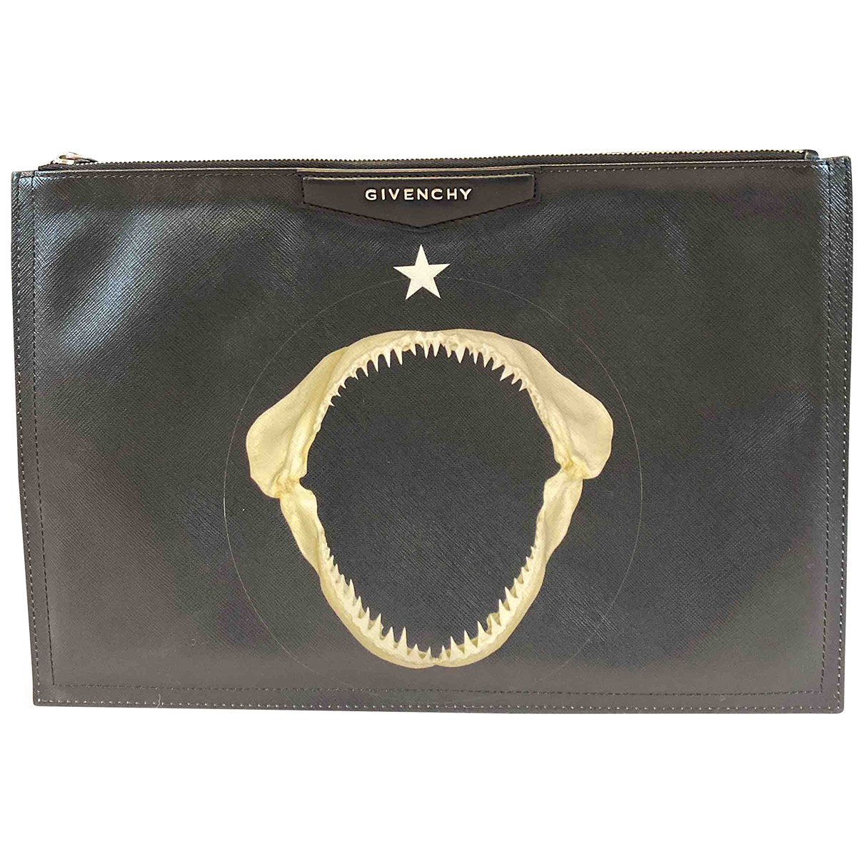 Givenchy N Black Leather Clutch bag for Women N