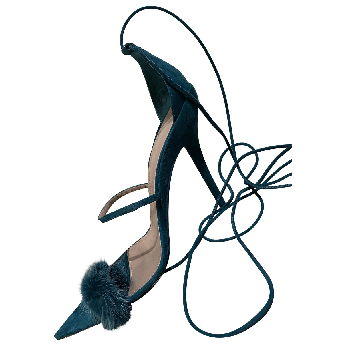 Fenty \N Green Suede Sandals for Women 41 EU