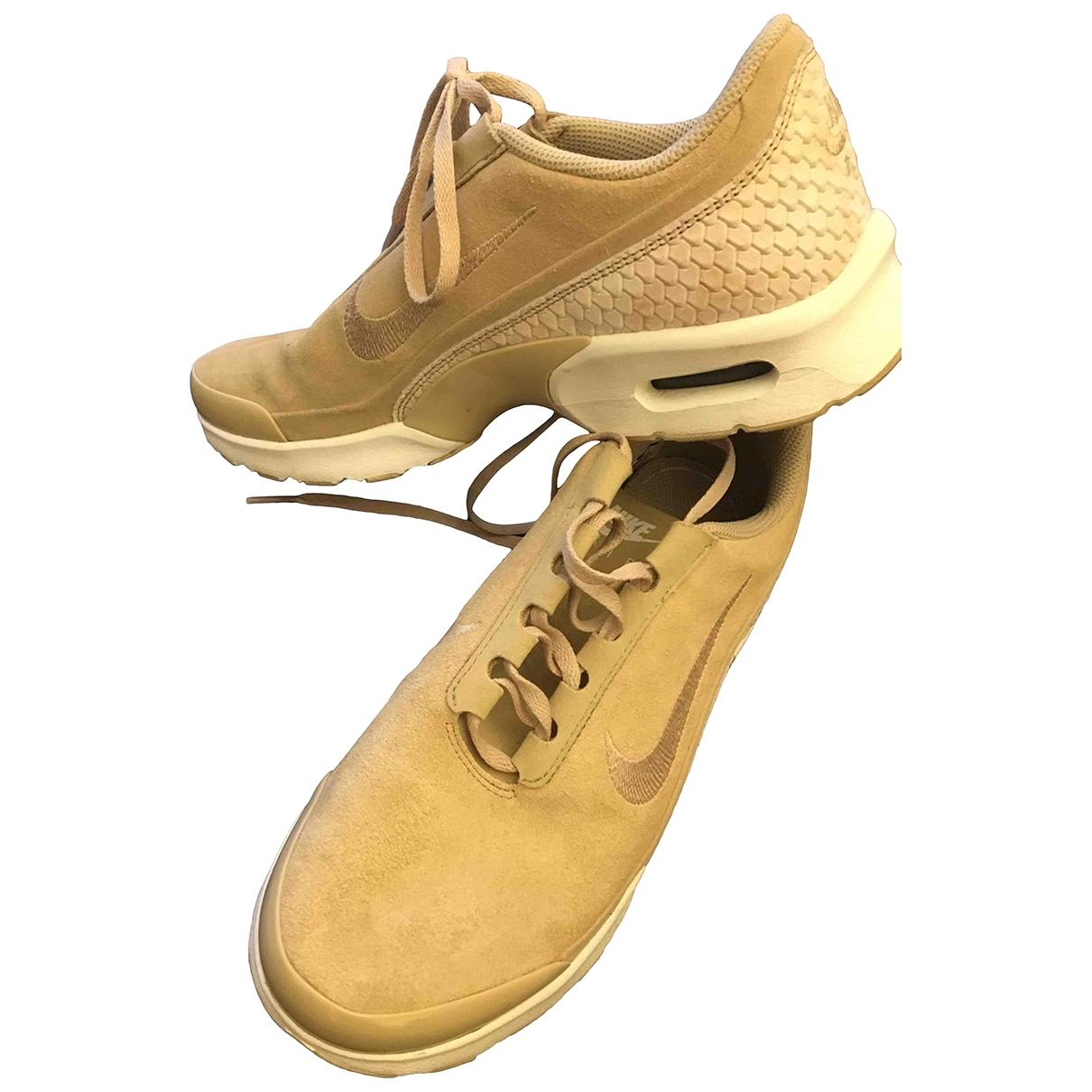 Nike - Baskets Air Max Plus  pour femme en cuir - beige