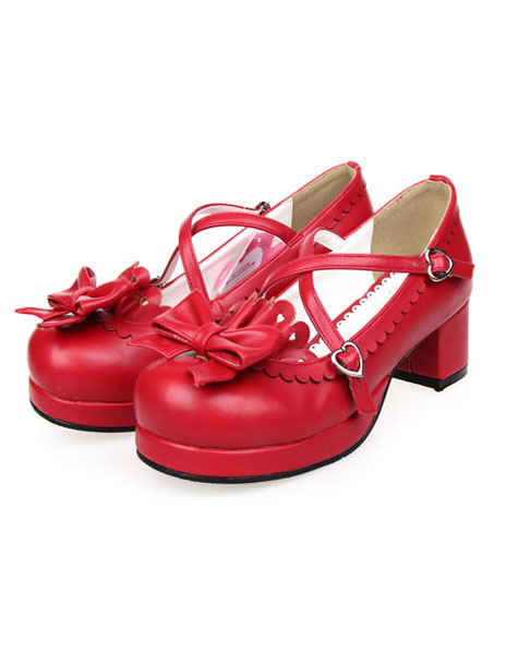 Milanoo Bow Decor Lolita Shoes