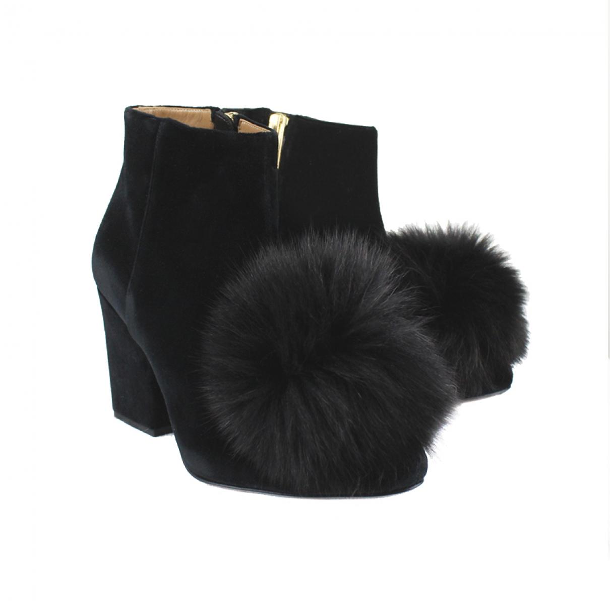 Sonia Rykiel - Boots   pour femme en velours - noir