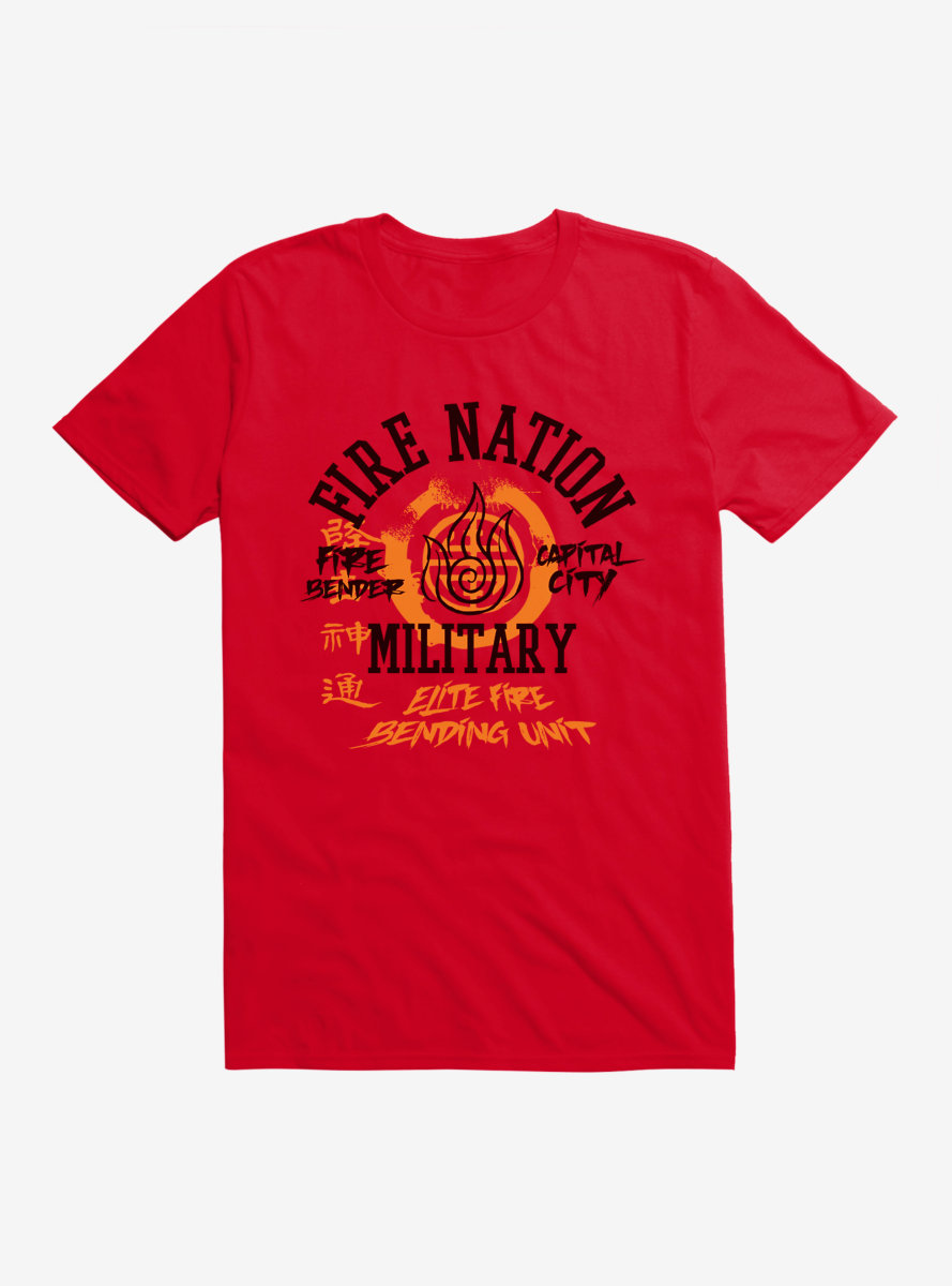 Avatar: The Last Airbender Fire Nation Capital City Military T-Shirt