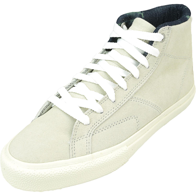 Emerica Men's Omen Hi White / Mid-Top Leather Sneaker - 7M