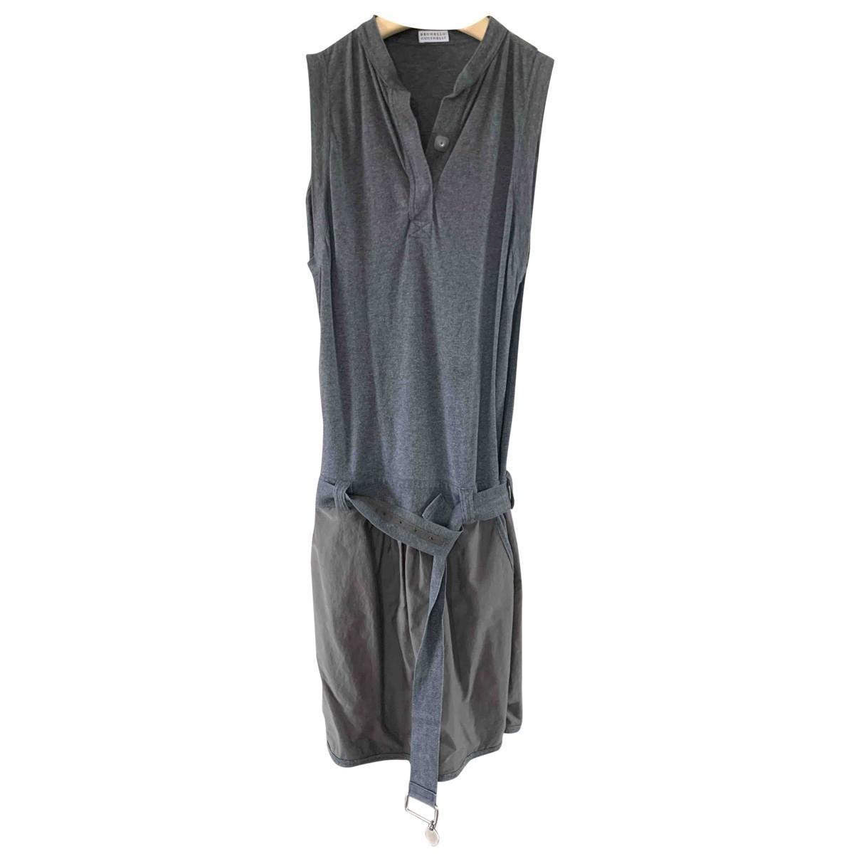 Brunello Cucinelli \N Grey Cotton dress for Women M International