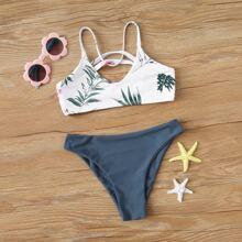 Maedchen Tropical Bikini Badeanzug