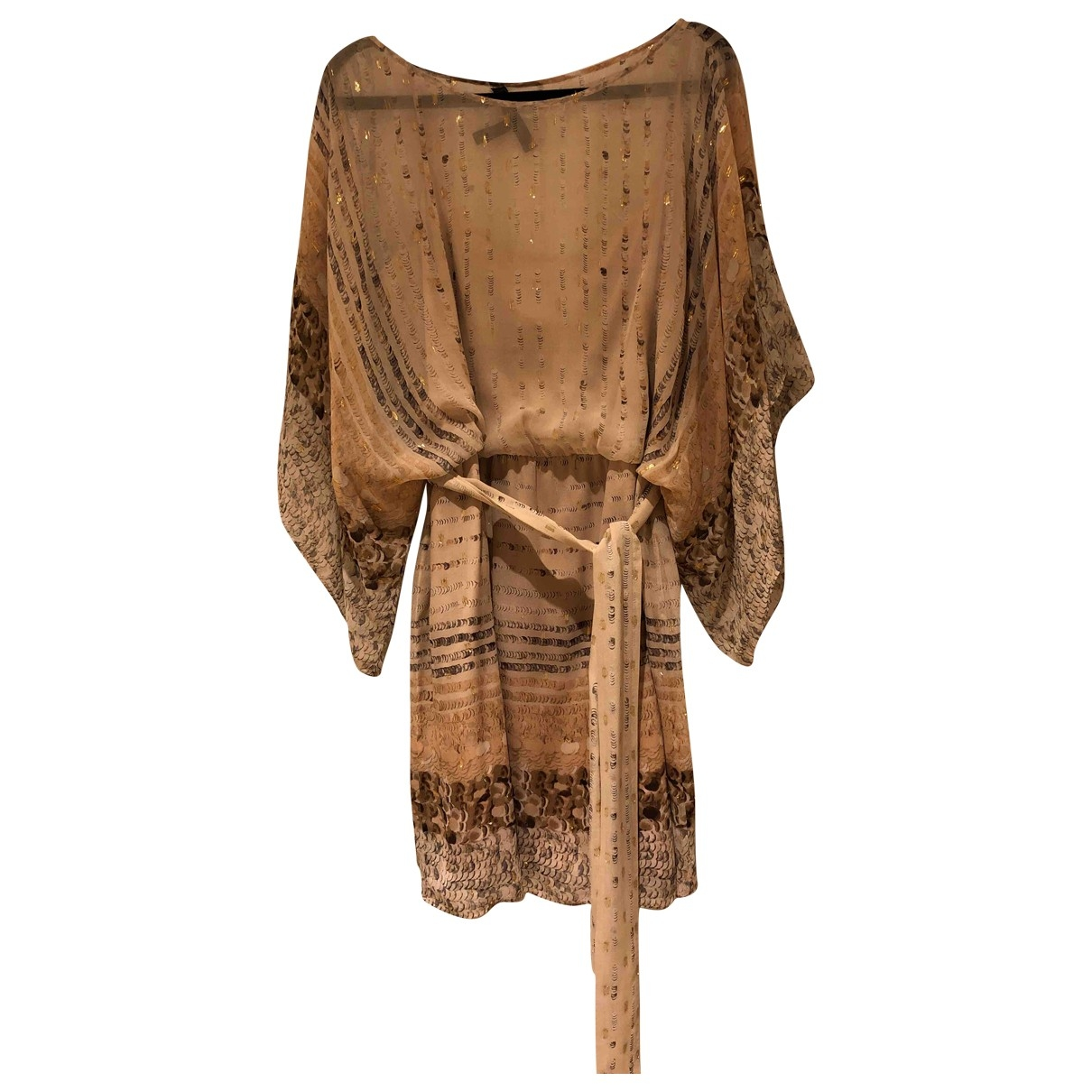 Bcbg Max Azria \N Beige Cotton dress for Women L International