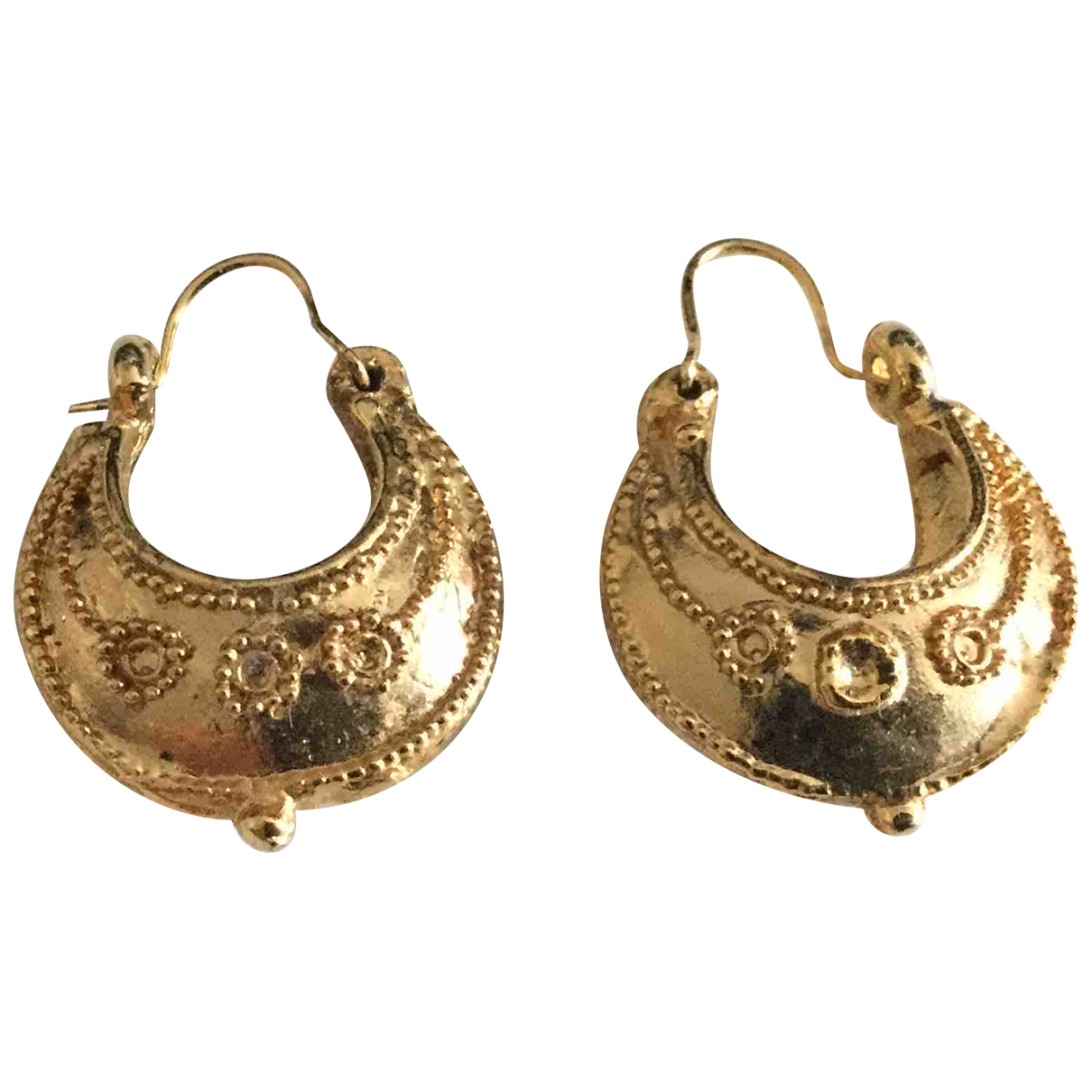 - Boucles doreilles Motifs Ethniques pour femme en metal - dore