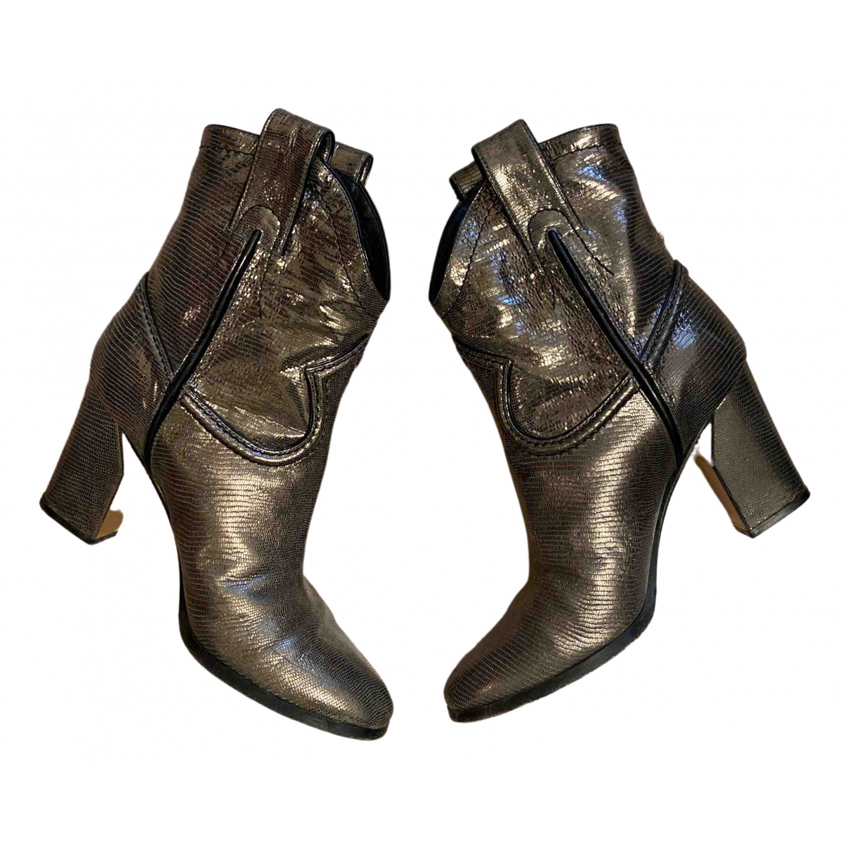 Casadei \N Leather Ankle boots for Women 36 IT