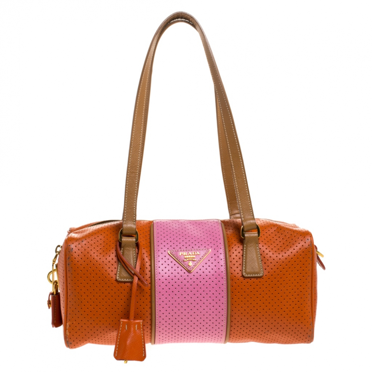 Prada N Orange Leather handbag for Women N
