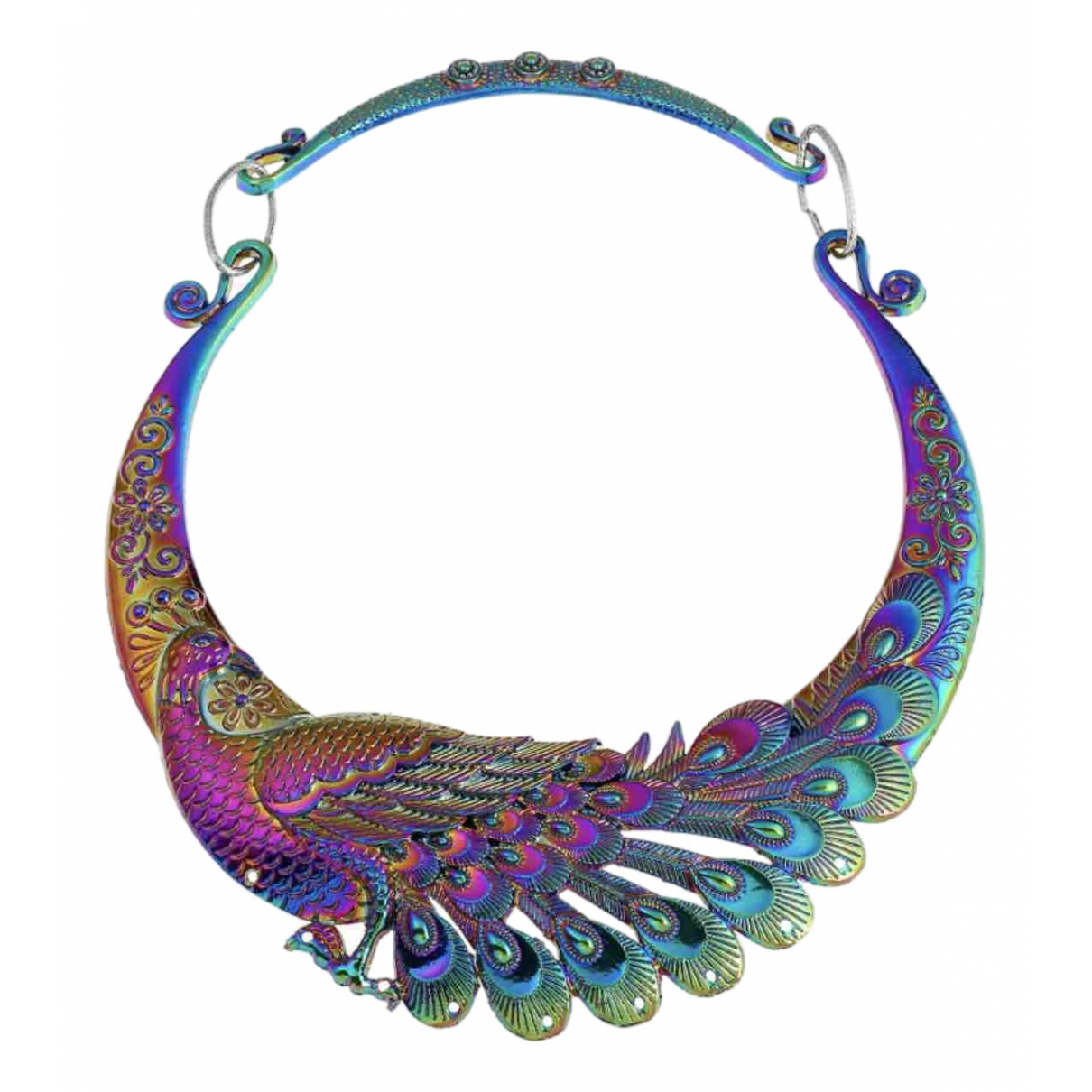Non Signé / Unsigned Motifs Animaliers Multicolour Metal necklace for Women \N