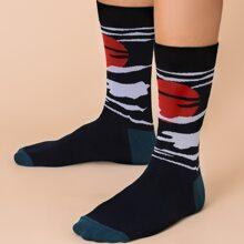 Maenner Socken mit Grafik