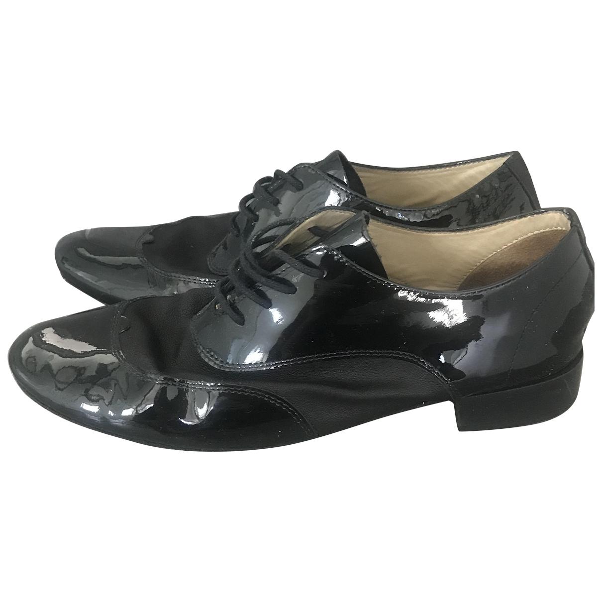 Repetto - Derbies   pour femme en cuir verni - noir
