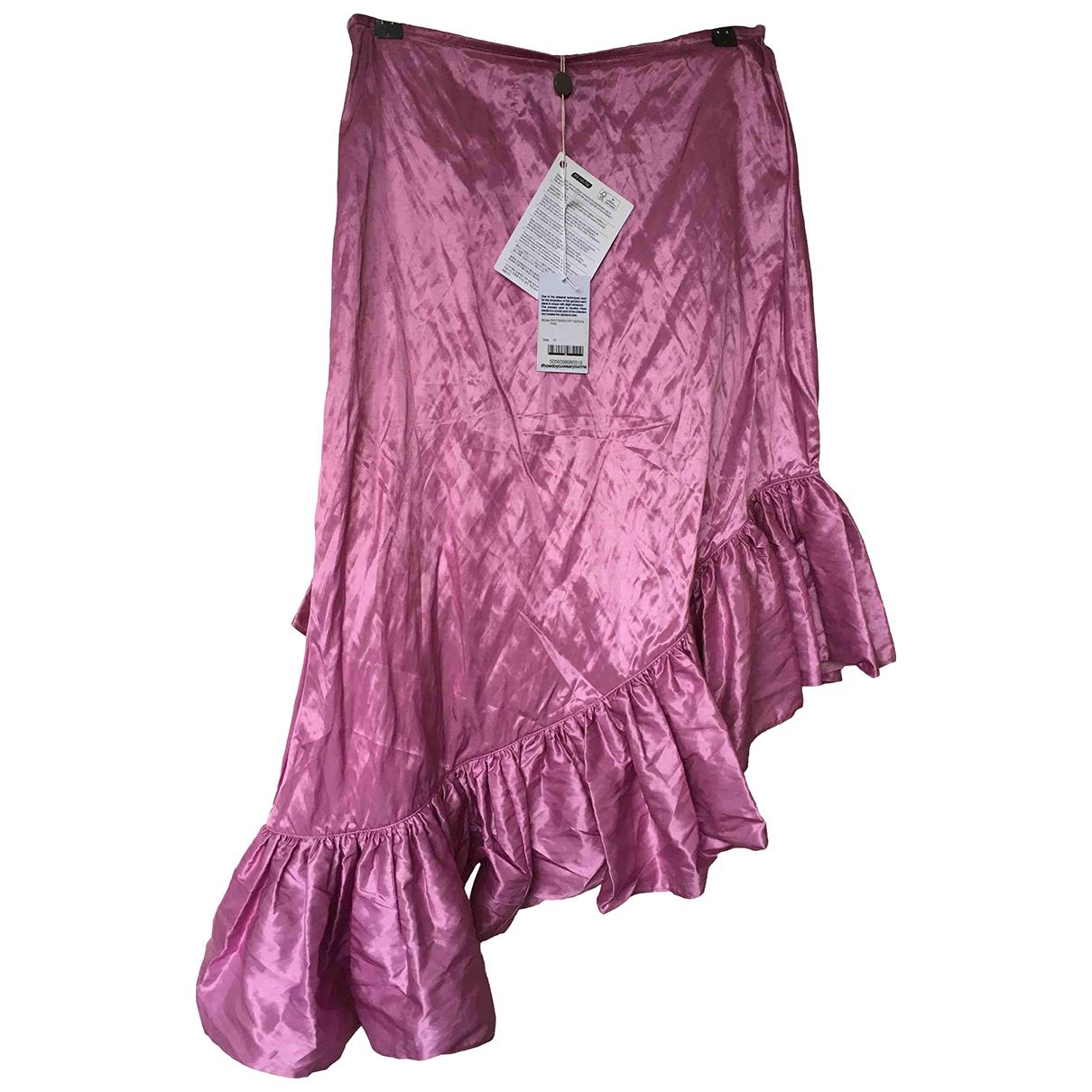 Marques Almeida - Jupe   pour femme en soie - rose