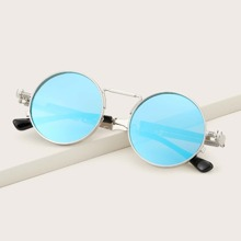 Gafas de sol de hombres de lentes redondas