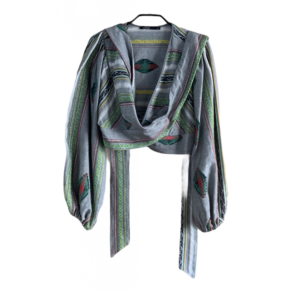Non Signé / Unsigned N Grey Cotton  top for Women S International