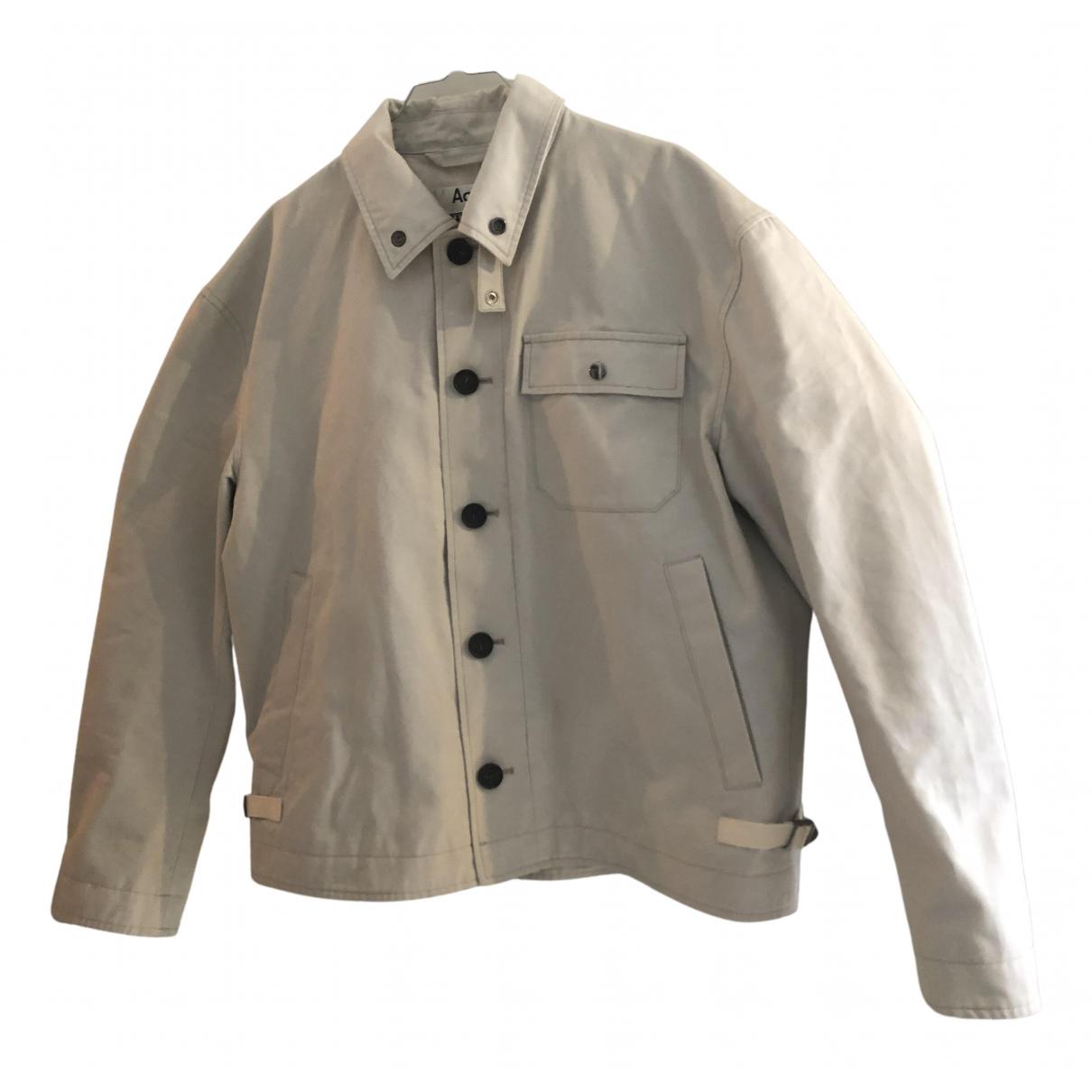 Acne Studios \N White Cotton jacket  for Men 48 IT