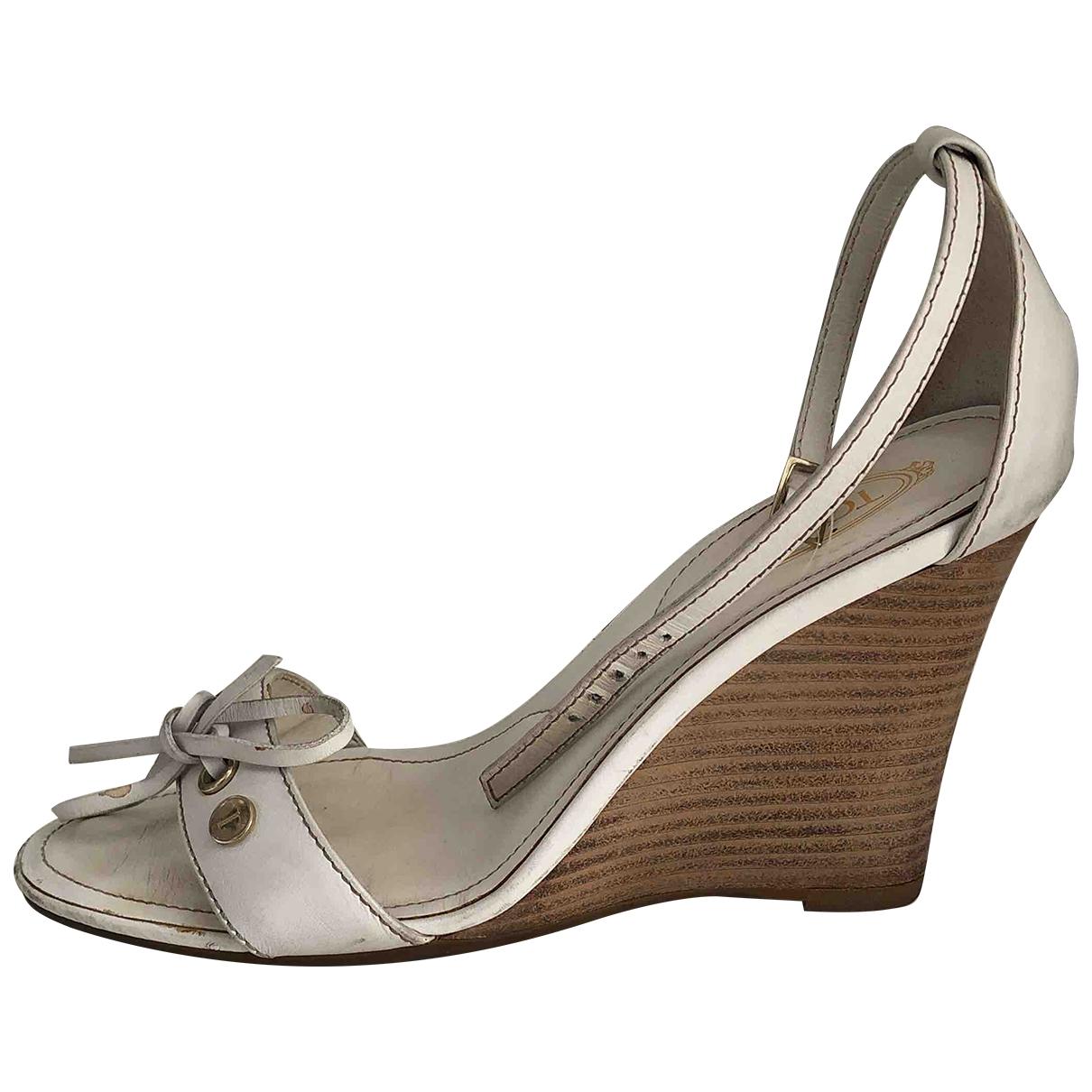 Tods - Sandales   pour femme en cuir - blanc