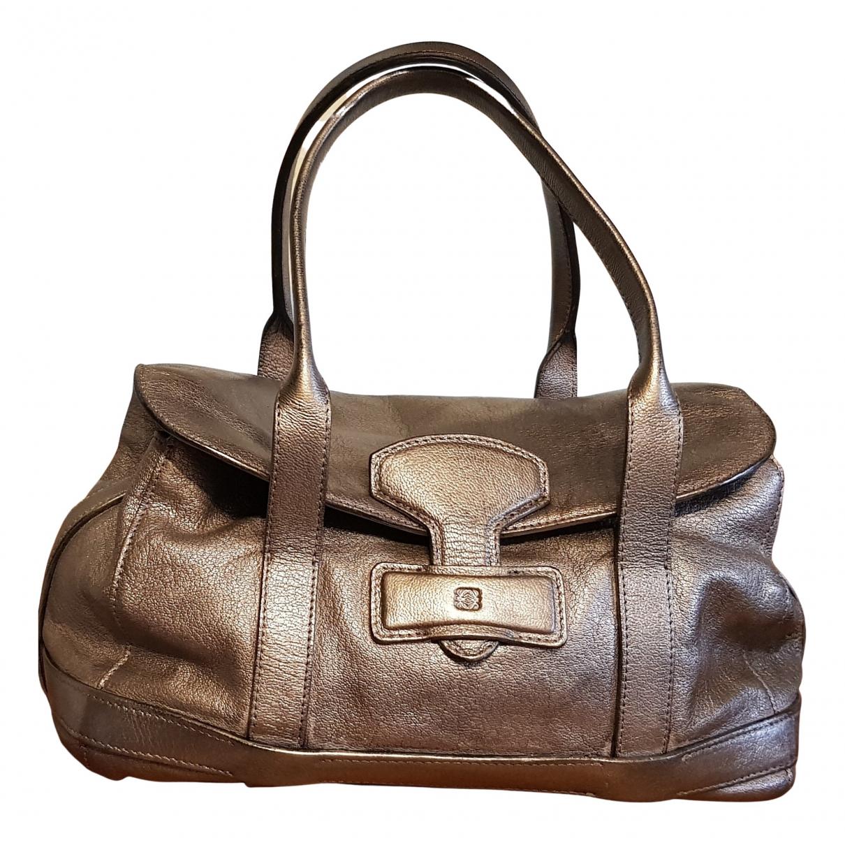 Loewe - Sac a main   pour femme en cuir - metallise