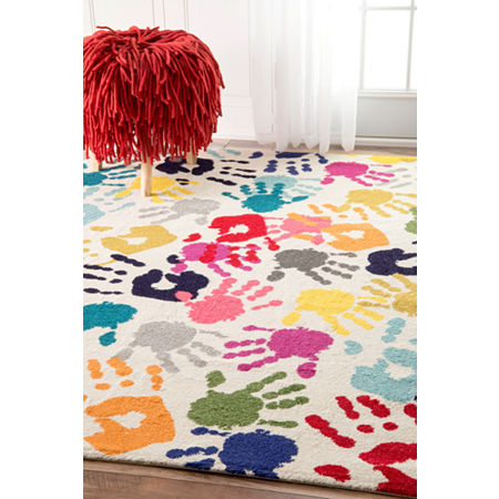 nuLoom Pinkie Handprint Rug, One Size , Multiple Colors