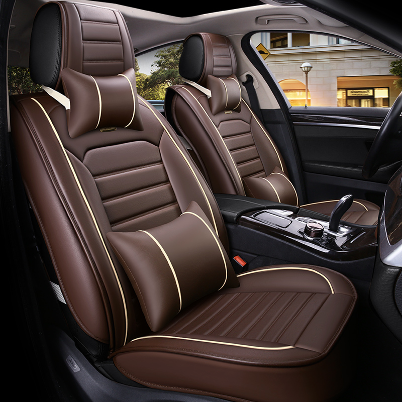 Classic Designed For Comfort BreathablePU Leather Universal Car Seat Covers