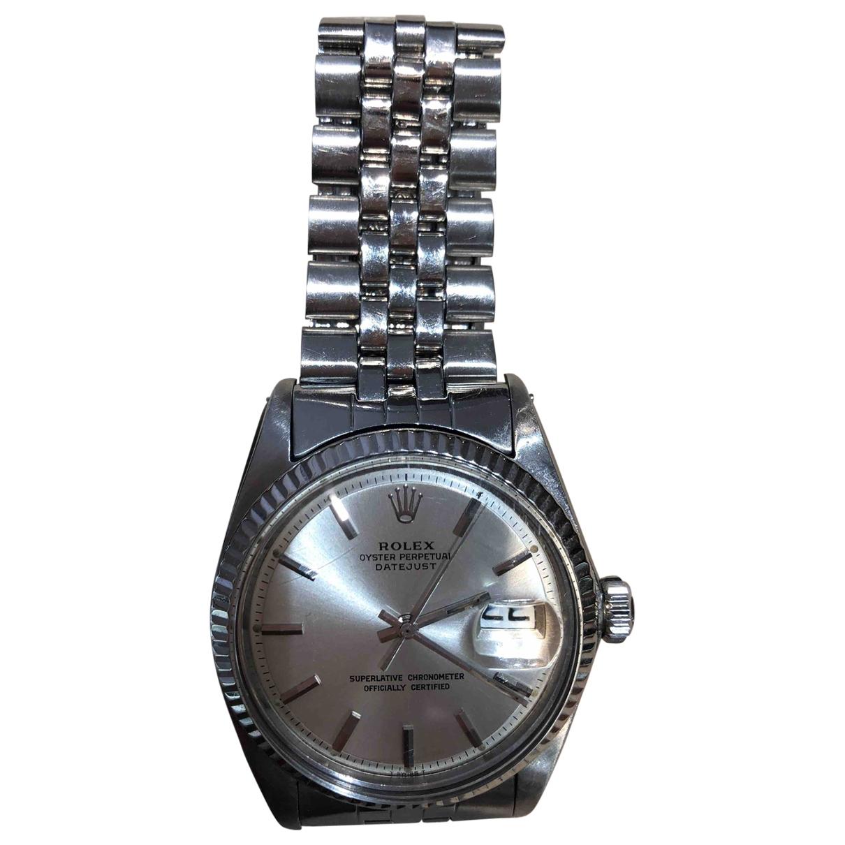 Rolex - Montre Datejust 36mm pour femme en acier - argente