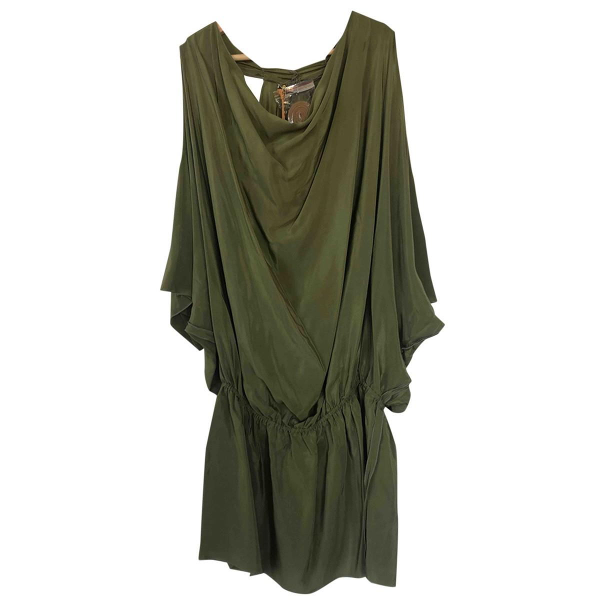 Ramy Brook \N Kleid in  Gruen Seide