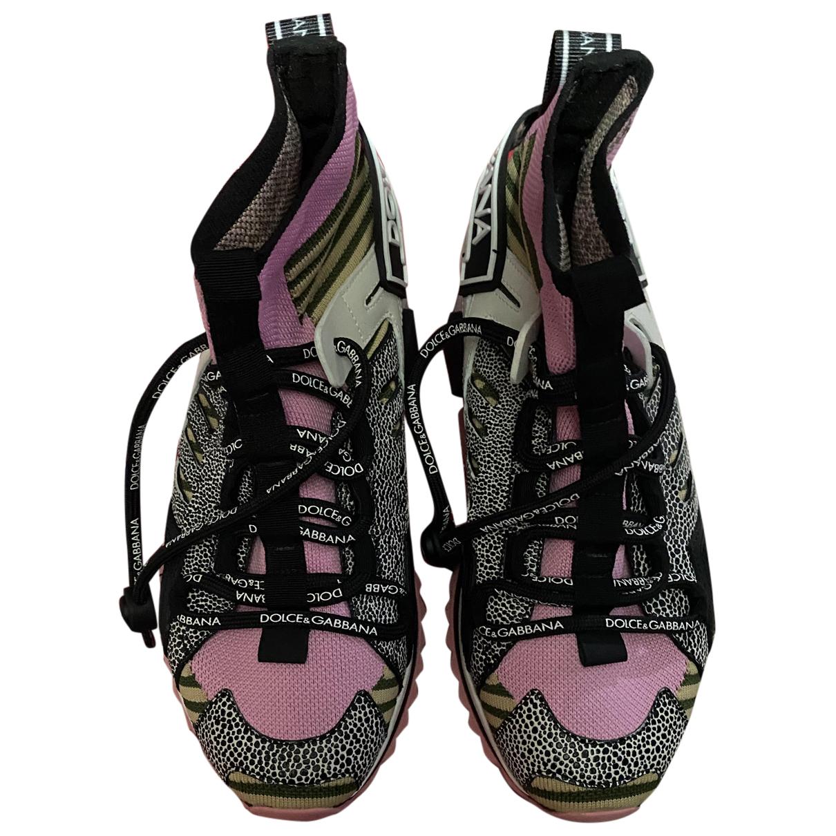 Dolce & Gabbana - Baskets Sorrento pour femme en toile - multicolore