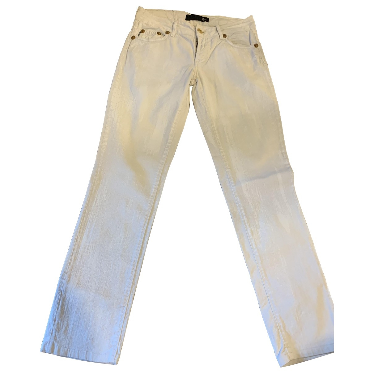 Just Cavalli \N White Cotton - elasthane Jeans for Women 26 US
