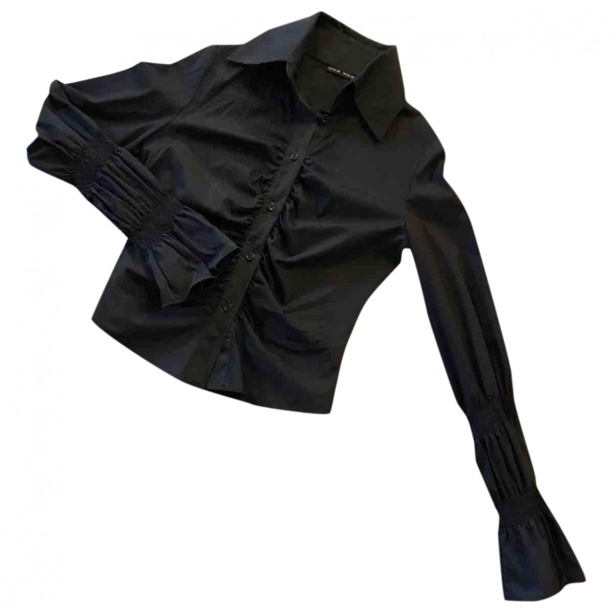 Non Signé / Unsigned \N Black Cotton  top for Women 42 IT