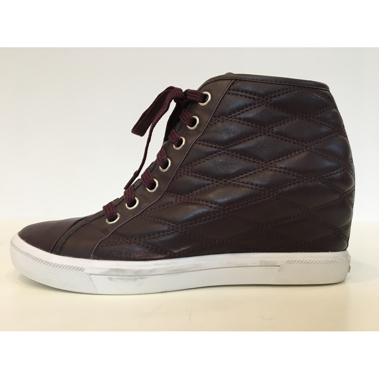 Dkny - Boots   pour femme en cuir - noir