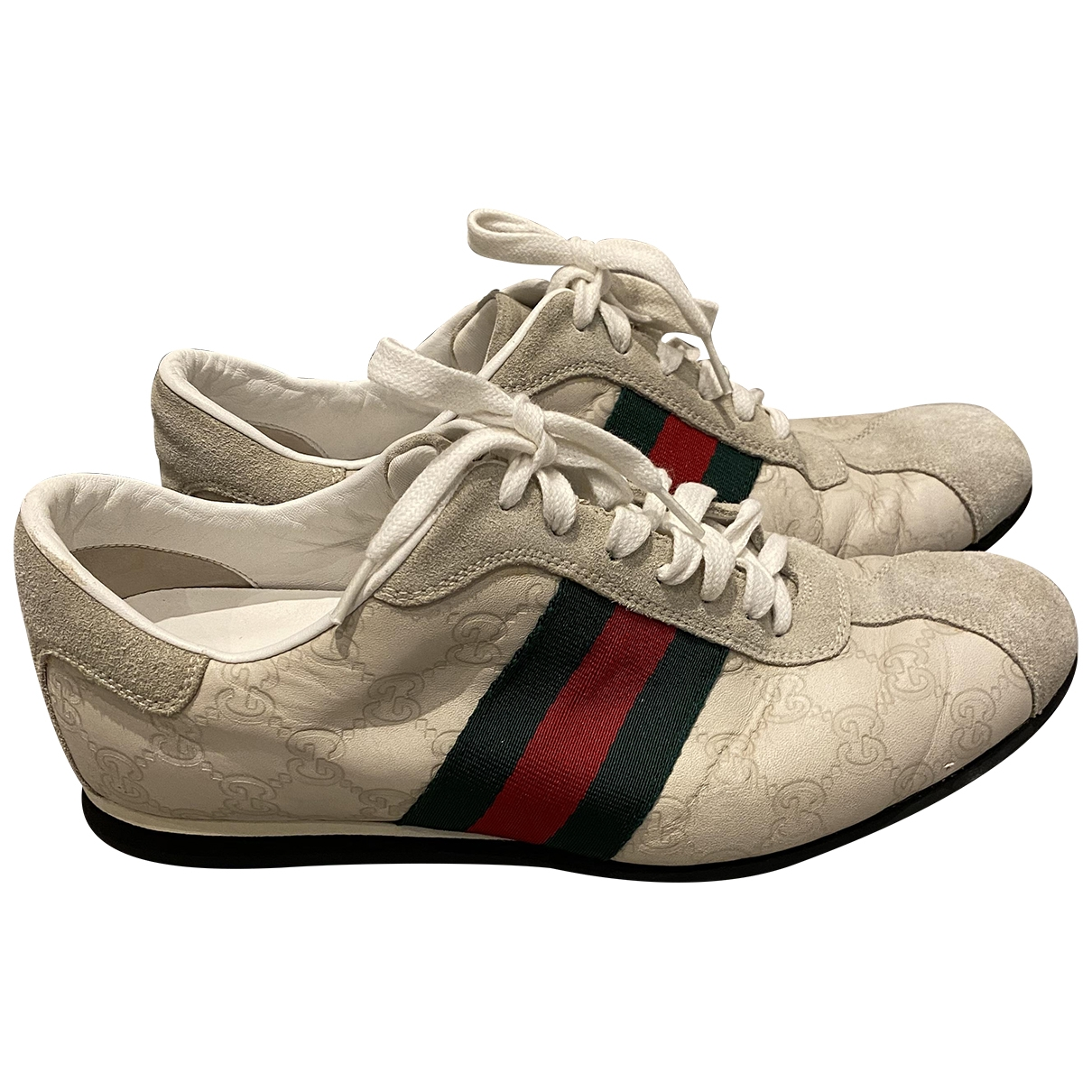 Gucci \N White Suede Trainers for Men 6.5 UK