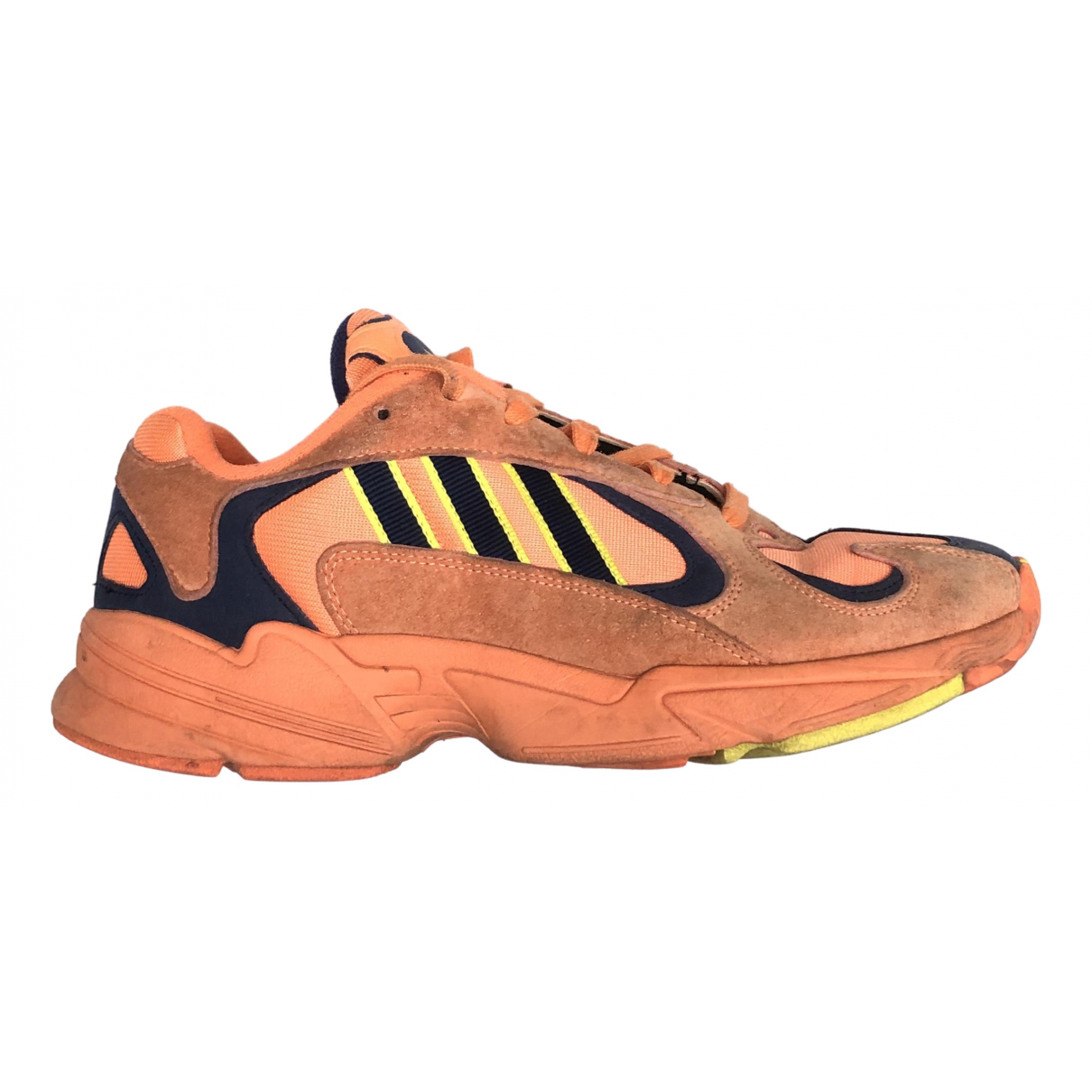 Adidas Yung-1 Orange Suede Trainers for Men 42 EU